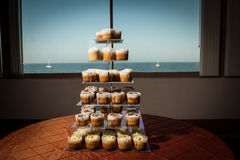 Image of cupcakes on a tiered stand Stock Image