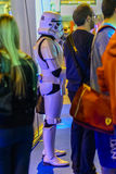 Imperial Stormtrooper  next to other people Stock Images