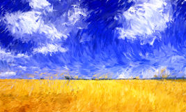 Impressionism oil painting Stock Photos