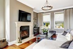 Impressive living room interior in luxury house Stock Photo