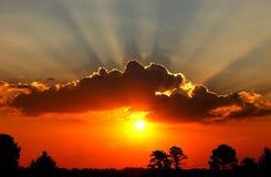 Incandescenza di tramonto Fotografia Stock Libera da Diritti