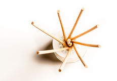 Incense sticks in a glass Stock Images