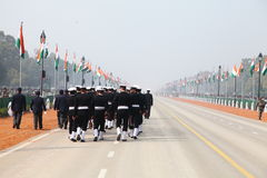 Indian Soldiers on the occasion of republic day Parade2014 in New Delhi, India Stock Images