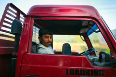 Indian truck driver Royalty Free Stock Photo