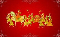 Indian Wedding Card Royalty Free Stock Photography