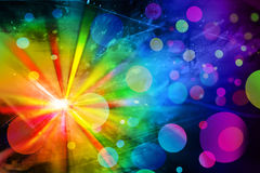 Indicatori luminosi della discoteca Immagine Stock