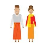 Indonesian national dress Stock Photos
