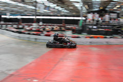 Indoor go karting Royalty Free Stock Photo