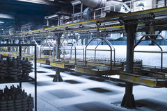Industrial assembly line Royalty Free Stock Photo