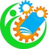 Industrial education logo Stock Image