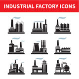 Industrial Factory Icons Stock Photos