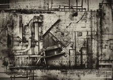 Industrial grunge background Royalty Free Stock Photos