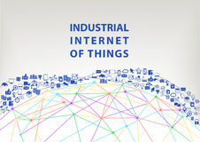 Industrial internet of things  illustration background. World wide web concept Royalty Free Stock Photo