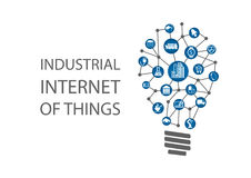 Industrial internet of things (industry 4.0)  illustration. Stock Photography