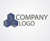 Industrial logo Royalty Free Stock Image