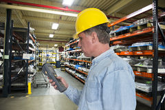 Industrial Manufacturing Inventory Warehouse Worke Royalty Free Stock Images