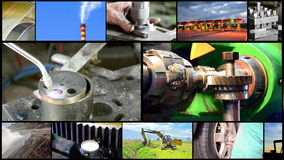 Industrial montage video wall stock footage