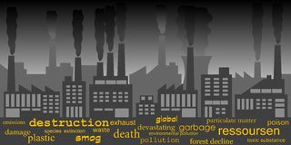 Industrial pollution Stock Photography