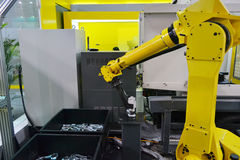 Industrial robot arm Stock Photography