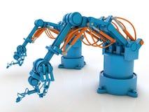 Industrial robots Stock Photo