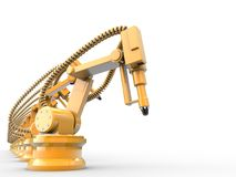 Industrial robots Stock Images