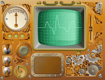 Industrial Steampunk media player Stock Photo
