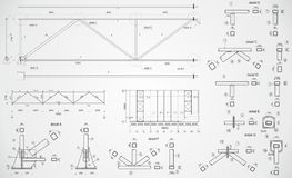 Industrial truss Royalty Free Stock Images