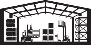 Industrial warehouse scene Royalty Free Stock Photo