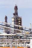Industriell vom Raffinerieturm Stockbild