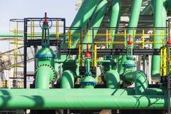 Industrielles grünes Rohr Stockfotografie