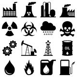 Industry Black and White Icons Stock Photography