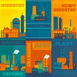 Industry poster set Stock Images
