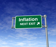 Inflation economy prices rise busiiness symbol Stock Photos