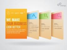 Info-Graphic Tabs Stock Photo