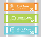 Info-Graphic Tabs Royalty Free Stock Photos