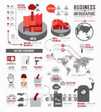 Infographic Business world industry factory template design . co Royalty Free Stock Image