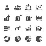 Infographic and chart icon set, vector eps10 Royalty Free Stock Photography