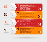 Infographic design with navigation menu Royalty Free Stock Images