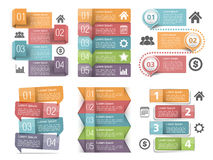 Infographic Elements with Numbers Stock Photo