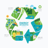 Infographic energy template design.protect world energy concept Royalty Free Stock Images