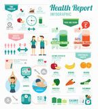 Infographic health sport and Wellness template design . concept Stock Photo