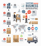 Infographic Shipping world Business  template design . concept Royalty Free Stock Image