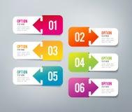 Infographics - 6 kroków Obraz Stock