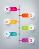 Infographics - 6 kroków Zdjęcia Stock