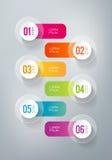 Infographics - 6 kroków Fotografia Royalty Free