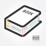 Infographics vector book design diagram line style timeline Stock Images