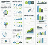 Information graphics to visualize corporate data infographics Royalty Free Stock Photography