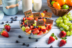 Ingredients for fruit salad with no preservatives Stock Photos