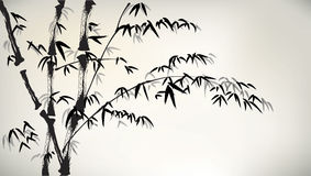 Ink painted bamboo Royalty Free Stock Image