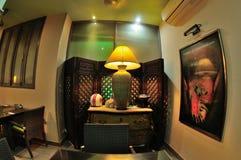 Innenarchitektur des thailändischen Restaurants Stockbild